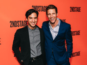 Torch Song's Michael Rosen and Ward Horton are all smiles for the Second Stage gala.