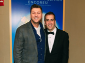 Director/choreographer Warren Carlyle and music director Rob Berman celebrate a great run of Me and My Girl at Encores!