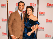 The Band's Visit and Mean Girls Tony nominees Ari'el Stachel and Ashley Park pal around.