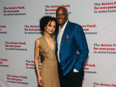 Children of a Lesser God  director Kenny Leon, pictured with star Lauren Ridloff, received an Actor's Fund Medal of Honor.