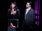 Caroline Bowman as Nicola and Tyler Glenn as Charlie in Kinky Boots.