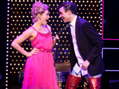Carrie St. Louis as Lauren and Tyler Glenn as Charlie in Kinky Boots.