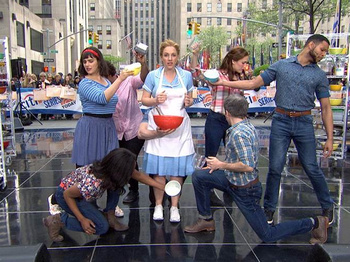 Watch Jessie Mueller & Sara Bareilles Serve Up a Slice of Waitress al Fresco