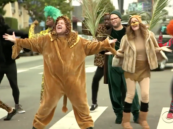 Watch Tony Host James Corden Put on The Lion King Crosswalk Performance You Didn't Know You Needed
