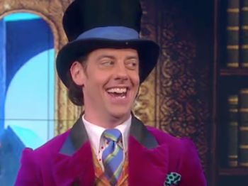 Watch 'The Candy Man' of Charlie and the Chocolate Factory Ring In Halloween on The View