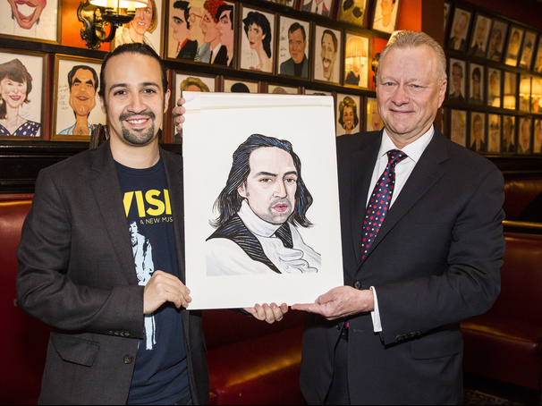 Look Around, Look Around! Hamilton's Lin-Manuel Miranda Receives Sardi's Portrait
