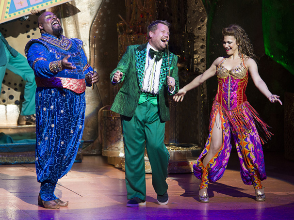 Carpet Ride Karaoke? Tony Winner & Late Night King James Corden Makes a Cameo in Broadway's Aladdin