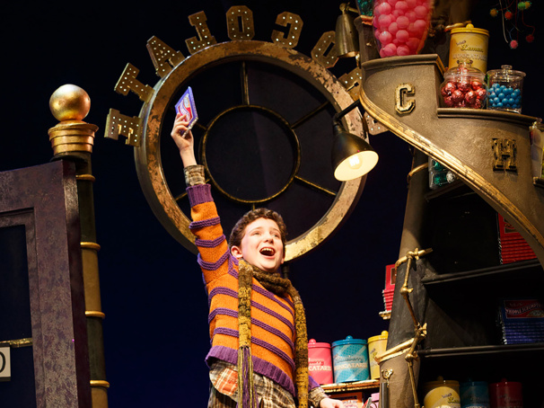 Ryan Sell as Charlie in Charlie and the Chocolate Factory.