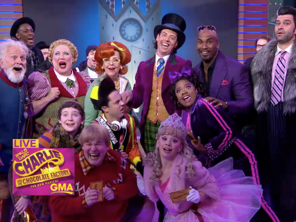 Christian Borle & the Stars of Charlie and the Chocolate Factory Sing a Pair of Tunes on Good Morning America