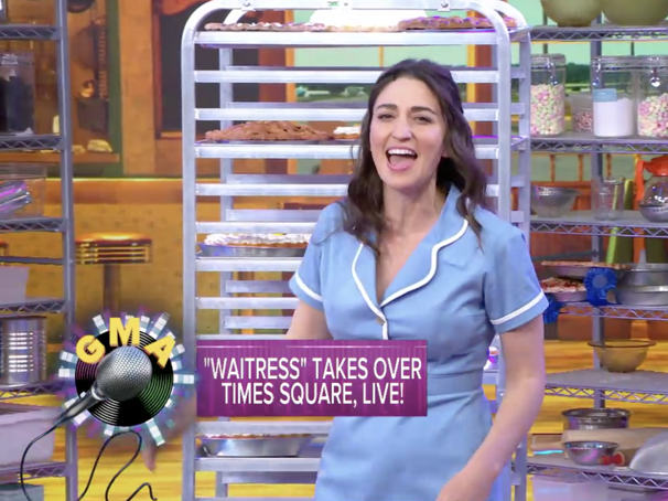 Watch Sara Bareilles Don Her Apron to Sing with the Cast of Waitress