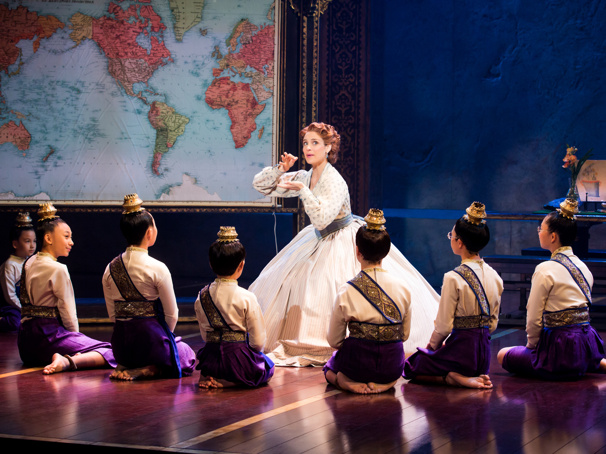 Elena Shaddow & the Royal Children in Rodgers & Hammerstein's The King and I, photo by Jeremy Daniel