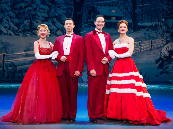 Kelly Sheehan, Jeremy Benton, Sean Montgomery, Kerry Conte, Irving Berlin's White Christmas 2016 National Tour Company. Jeremy Daniel Photography, 2016.