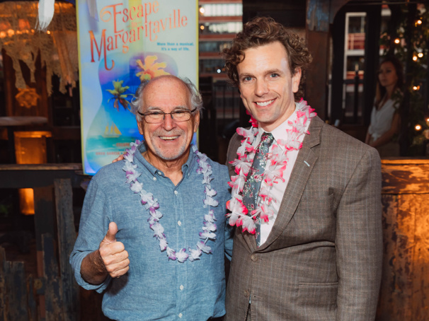 Thumbs up to music man Jimmy Buffett and I>Escape to Margaritaville star Paul Alexander Nolan!