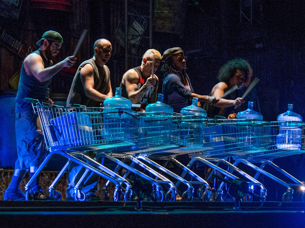 The touring company of Stomp