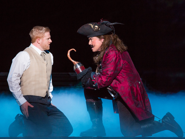 Will Ray as JM Barrie & John Davidson as Captain Hook in Finding Neverland