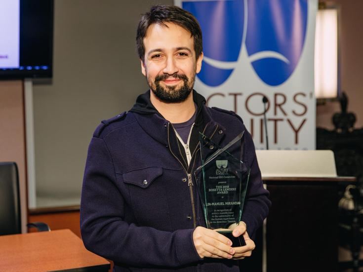 Lin-Manuel Miranda Honored with Actors' Equity's 2018 ... Rosetta Lenoire Award