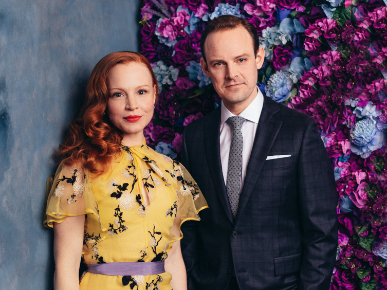 Lauren Ambrose, Harry Hadden-Paton & the Cast of My Fair Lady Pose for Loverly Portraits on Opening Night