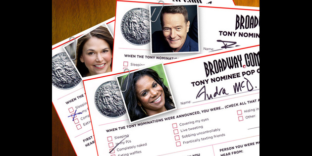 Tony Pop Quiz! Broadway.com Asks 45 Nominees to Fill Out Our Crazy Questionnaire