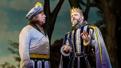 Tom Alan Robbins as Dametas and Jeremy Kushiner as Basilius in Head Over Heels.