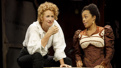 Janet McTeer as Sarah Bernhardt and Brittany Bradford as Lystette in Bernhardt/Hamlet.