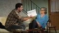 Bobby Cannavale as D'Agata and Cherry Jones as Emily Penrose in The Lifespan of a Fact.