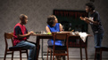 Karl Green as Mark, de'Adre Aziza as Deborah and Kadijah Raquel as Lauren in Eve's Song.