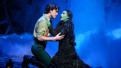 Ryan McCartan as Fiyero and Jessica Vosk as Elphaba in Wicked.