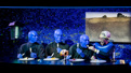 The cast of Blue Man Group.