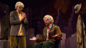Nick Kroll as Gil Faizon and John Mulaney as George St. Geegland in Oh, Hello on Broadway.