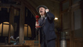 Nathan Lane as Walter Burns in The Front Page.