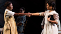 Cynthia Erivo as Celie and Jennie Harney as Nettie in The Color Purple.