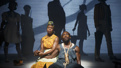 Roslyn Ruff as Black Women With Fried Drumstick and Daniel J. Watts as Black Man With Watermelon in The Death of the Last Black Man in the Whole Entire World.