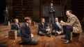 Jason Sudeikis as John Keating and the cast of Dead Poets Society.