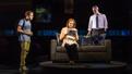 Ben Platt as Evan Hansen, Jennifer Laura Thompson as Cynthia Murphy and Michael Park as Larry Murphy in Dear Evan Hansen.