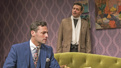 Max von Essen as Stephen Meredith and Todd Cerveris as Dr. Alan Kirby in Yours Unfaithfully.
