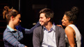 Sas Goldberg as Kiki, Gideon Glick as Jordan and Rebecca Naomi Jones as Vanessa in Significant Other.