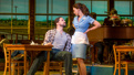 Will Swenson as Earl and Sara Bareilles as Jenna in Waitress.