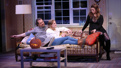 Darren Pettie as Graham, Ella Dershowitz as Tanya and Amber Tamblyn as Miranda in Can You Forgive Her?.