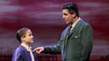 Will Coombs as Young Calogero and Richard H. Blake as Lorenzo in A Bronx Tale.
