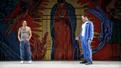 Juan Castano as Oedipus and Joel Perez as Creon in Oedipus El Rey.