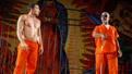 Juan Castano and Julio Monga in Oedipus El Rey.