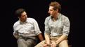 John Magaro as Joseph Papp and Fran Kranz as Merle Debusky in Illyria.