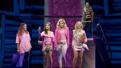 Erika Henningsen as Cady, Ashley Park as Gretchen, Taylor Louderman as Regina, Kate Rockwell as Karen and Barrett Wilbert Weed as Janis in Mean Girls.