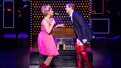 Kirstin Maldonado as Lauren and Jake Shears as Charlie in Kinky Boots.
