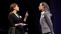 Aya Cash as Lauren and Gillian Jacobs as Kate in Kings.