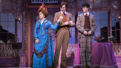 Bernadette Peters as Dolly Levi, Gavin Creel as Cornelius Hackl and Charlie Stemp as Barnaby Tucker in Hello, Dolly!.