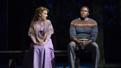 Jessie Mueller as Julie Jordan and Joshua Henry as Billy Bigelow in Carousel.