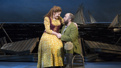 Lindsay Mendez as Carrie Pipperidge and Alexander Gemignani as Enoch Snow in Carousel.