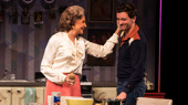 Mercedes Ruehl as Mrs. Beckoff and Michael Urie as Arnold in Torch Song.