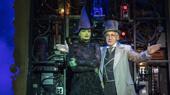 Jackie Burns as Elphaba & Jason Graae as The Wizard in Wicked